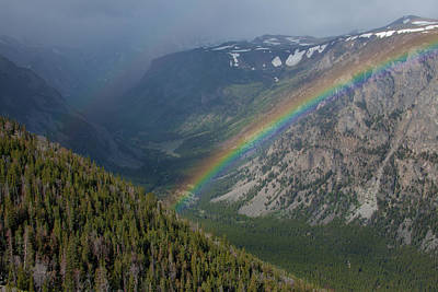 Rainbow At Beartooth Pass Poster