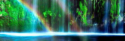 Rainbow Formed In Front Of A Waterfall Poster