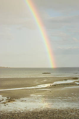 Rainbow Over The Coast Of Maine Poster by Keith Webber Jr