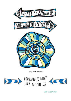 Ralph Waldo Emerson Quote Poster by Susan Claire