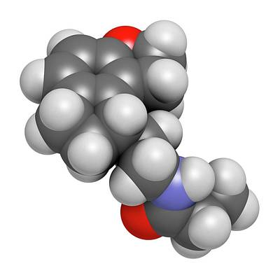 Ramelteon Insomnia Drug Molecule Poster by Molekuul