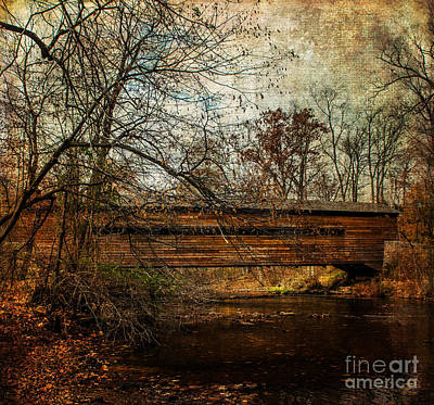 Rapps Dam Covered Bridge Poster by Judy Wolinsky