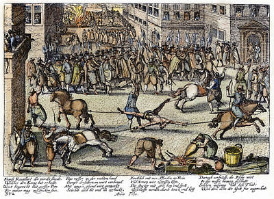Ravaillac Execution, 1610 Poster by Granger