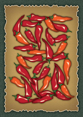 Red Chilli Peppers Poster