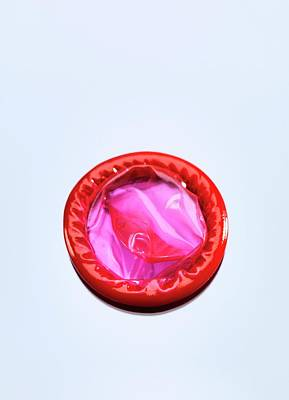 Red Condom Poster by Tek Image