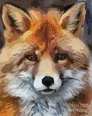Red Fox Poster by Dragica  Micki Fortuna