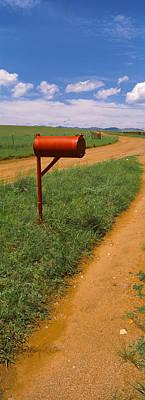 Red Mailbox At The Roadside, San Rafael Poster