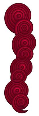 Red Spirals Poster by Frank Tschakert