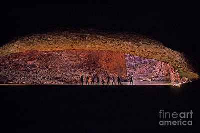 Red Wall Cavern Poster by Ron Sanford