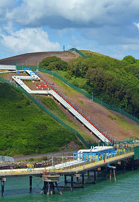 Refinary Pipeline In Milford Haven Poster by Panoramic Images