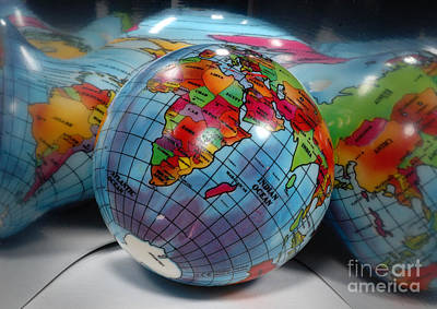 Reflected Globe Poster by Amy Cicconi