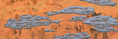 Reflection Of Sandstone Wall In Water Poster