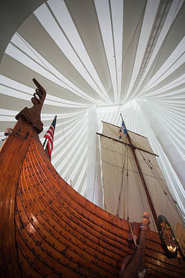 Replica Of Viking Ship, Heritage Poster by Panoramic Images