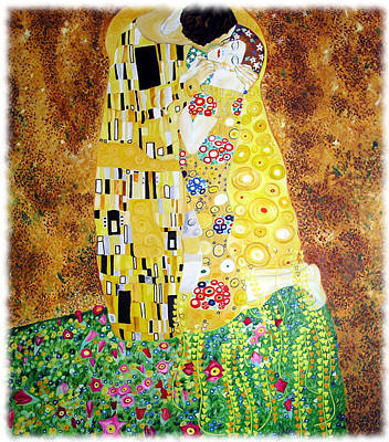 Reproduction Of - The Kiss By Gustav Klimt Poster