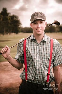 Retro Golfer Poster