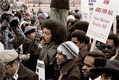 Reverend  Jesse Jackson Surrounded Poster
