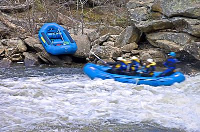 River Rafting Poster by Susan Leggett