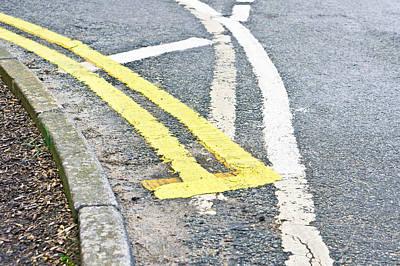 Road Markings Poster by Tom Gowanlock