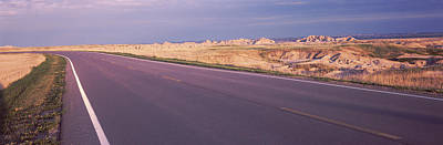 Road Passing Through The Badlands Poster by Panoramic Images