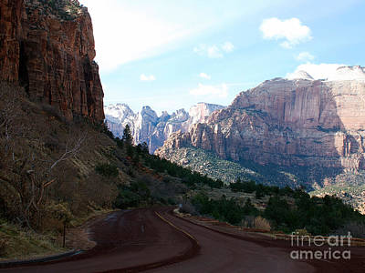 Road Through Zion National Park Poster