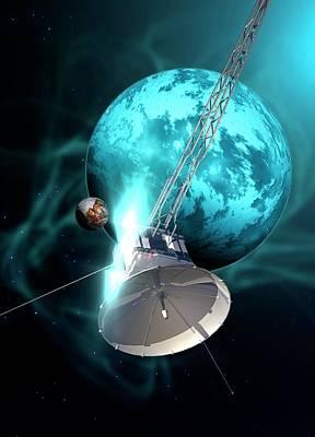 Robotic Probe In Deep Space Poster