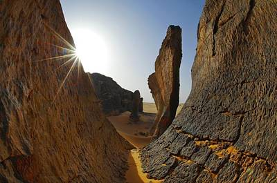 Rock Formations, Algerian Sahara Poster by Science Photo Library