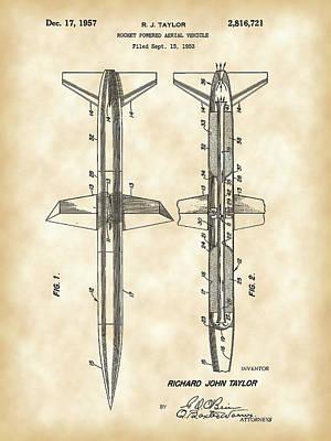 Rocket Patent 1953 - Vintage Poster