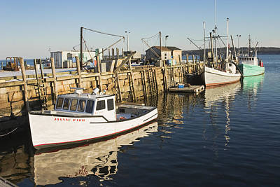 Rockland Maine Fishing Boats And Harbor Poster by Keith Webber Jr