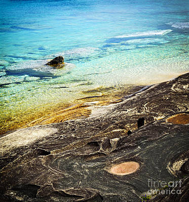 Rocks And Clear Water Abstract Poster by Elena Elisseeva