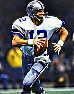 Roger Staubach Poster