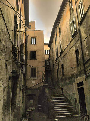 Roman Street Poster by Daniele Zambardi