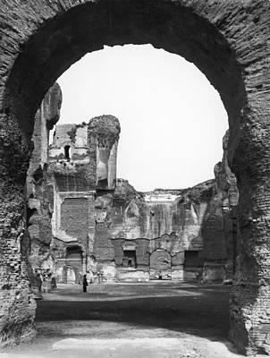 Rome Baths Of Caracalla Poster