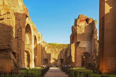 Rome, Italy. Baths Of Caracalla Poster