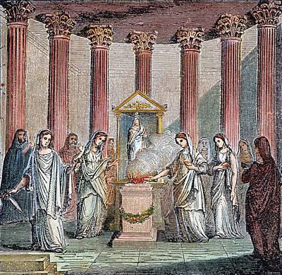 Rome Vestal Virgins Poster by Granger