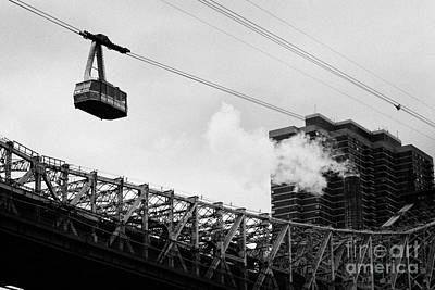 Roosevelt Island Aerial Tram Cable Car And Queensboro Bridge New York City Poster by Joe Fox