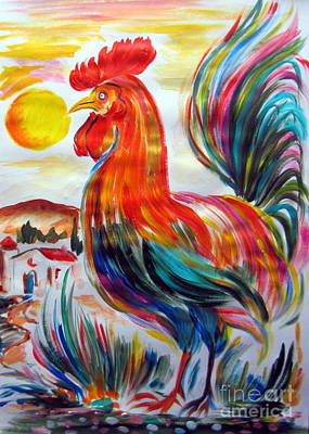 Rooster Rooster Poster by Roberto Gagliardi