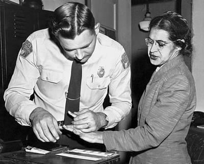 Rosa Parks Gets Fingerprinted Poster