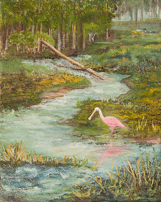 Roseate Spoonbill Poster by Annie St Martin