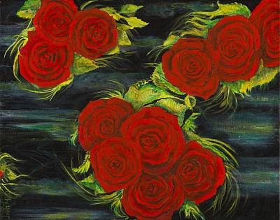 Roses Floating Poster by Cathy Long