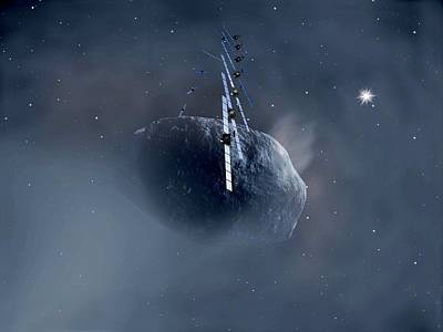 Rosetta Spacecraft Poster by European Space Agency,aoes Medialab