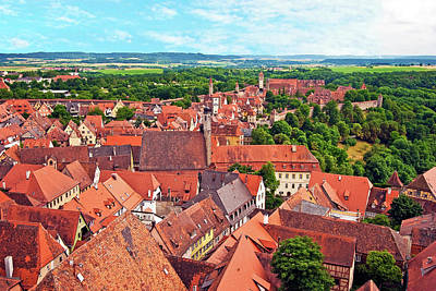 Rothenburg Ob Der Tauber, Bavaria Poster by Miva Stock
