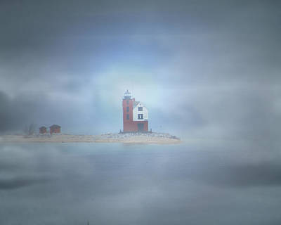 Round Island Lighthouse  Poster by Scott Hovind