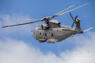 Royal Navy Eh-101 Merlin In Flight Poster by Timm Ziegenthaler