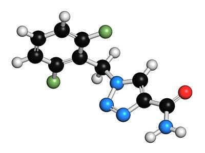 Rufinamide Seizures Drug Molecule Poster by Molekuul
