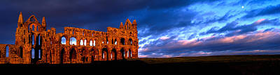 Ruins Of A Church, Whitby Abbey Poster