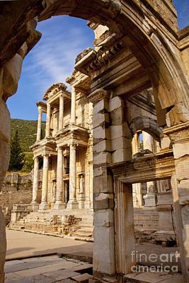 Ruins Of Ephesus Poster by Brian Jannsen