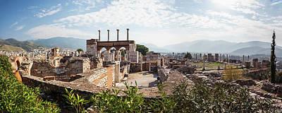 Ruins Of Saint John S Basilica Poster by Reynold Mainse