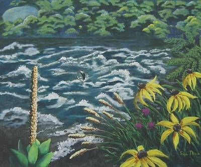Poster featuring the painting Rushing Water by Suzanne Theis