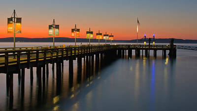 Ruston Way Tacoma Sunset Poster by Bob Noble Photography