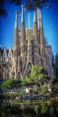 Sagrada Familia Nativity Facade Poster